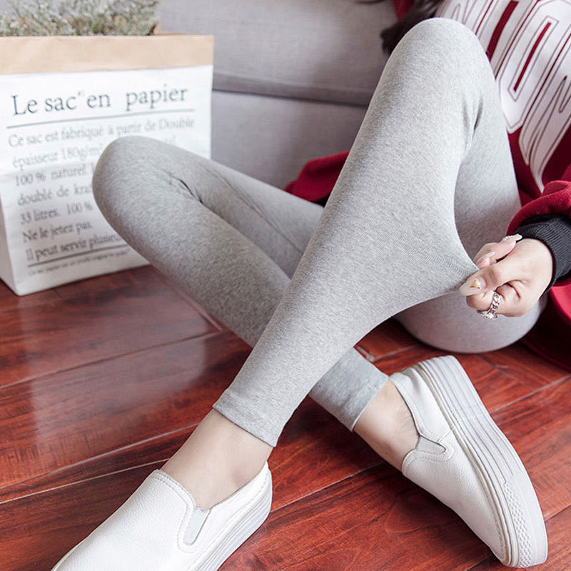 Modal leggings women's thin spring and autumn trousers new high-waist slim-fit high-elastic large si