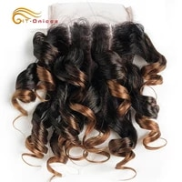 curly human hair closure 100 human hair 44 curly lace closure ombre brazilian hair weaving transparent lace closure remy hair