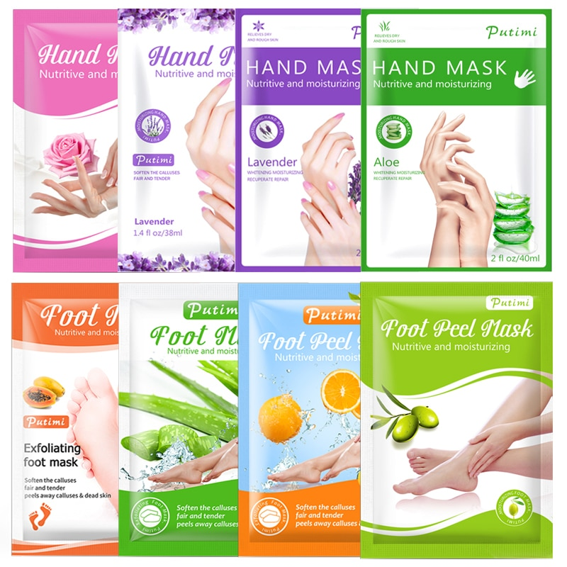 AliExpress - PUTIMI 3pack Moisturizing Hand Mask Spa Gloves Exfoliating Hand Patches Gloves Whitening Mask Peeling Foot Mask Remove Dead Skin