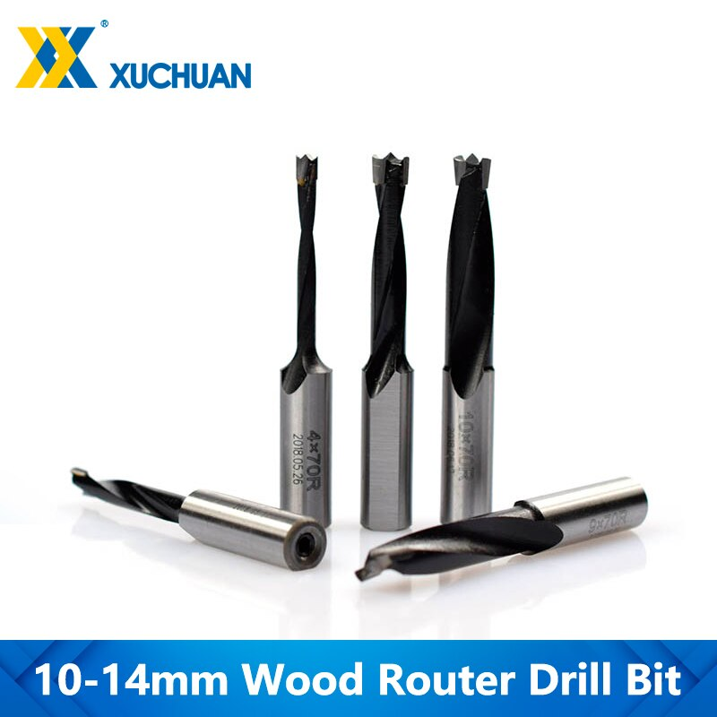 Right Rotation Router Bits Alloy Steel 10-14mm 2 Flute Router Drill Bits For Wood Boring Machine Drills Wood Forstner Drill Bit
