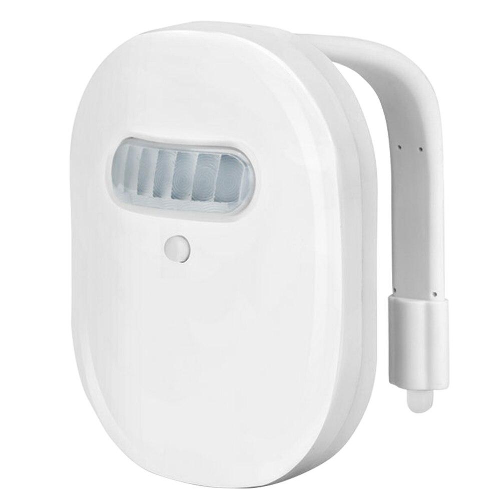 Impermeable Universal Baño Led 12 cambio de color ABS regulable lámpara de noche de baño utensilio práctico para el hogar instalar PIR Sensor de movimiento Mini