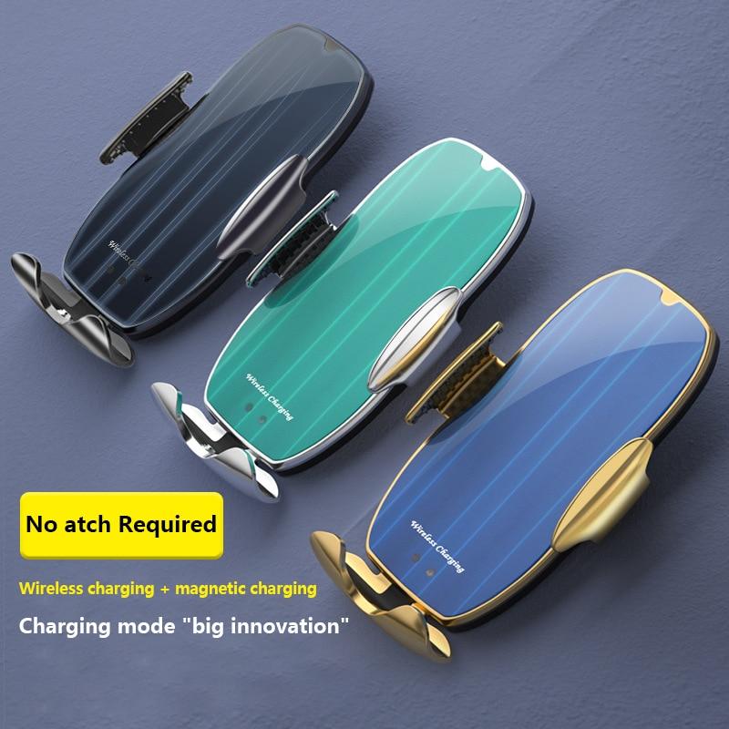 H8 Car Wireless Charger Intelligent Infrared Sensor 15W Wireless Charger Automatic Phone Wireless Charging Bracket
