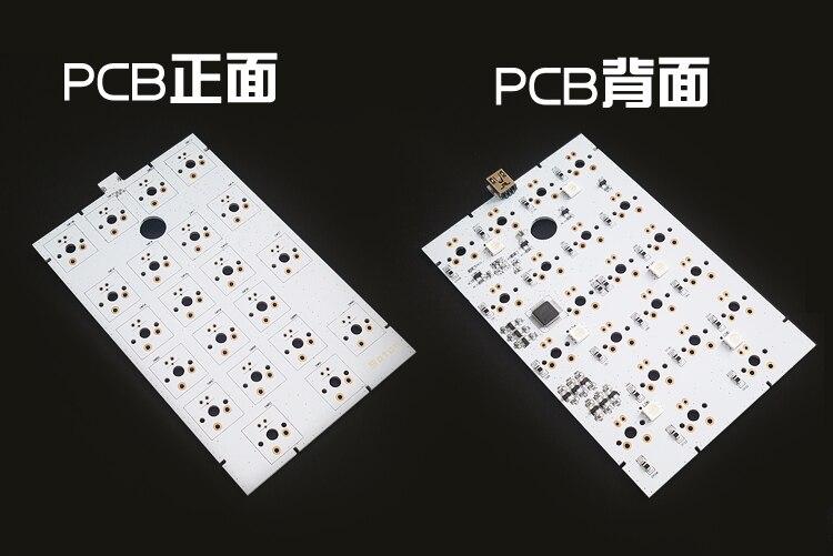 Almohadilla Satán numérico kit RGB PCB alfombrilla numérica teclado Teclado mecánico DIY kit de 21 clave Kit cherry mx brown (marrones claro de plata gateron