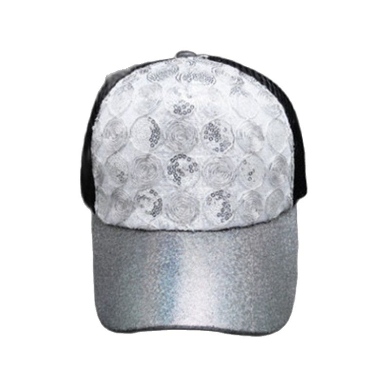 2021 Spring /Summer New Men's Sun Hats Ladies Outdoor Sports Breathable Caps Unisex Sequin Circle Baseball Caps