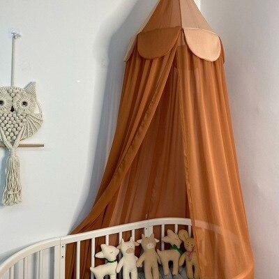 2021 Kids Room Chiffon Canopy Nursery Decor Chiffon Canopy Crib Decor Mosquito Baby Boy Girl Kids Children Room Chiffon Canopies
