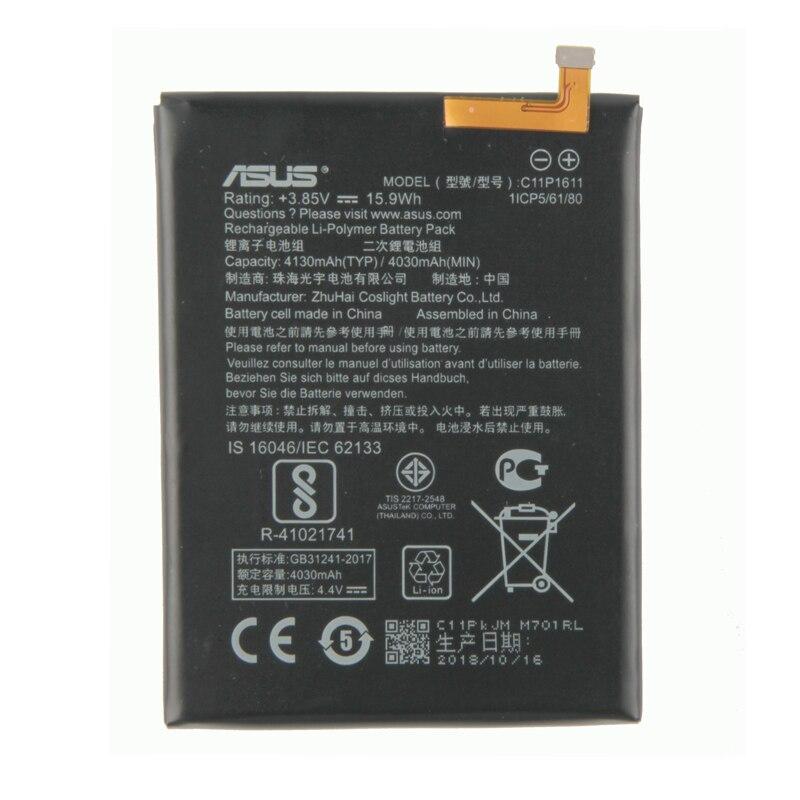 100% оригинальный сменный аккумулятор для ASUS Zenfone 3 Max ZC520TL X008 X008D Z01B запасной аккумулятор 4130 мАч C11P1611 аккумулятор для смартфона