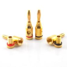 4/8 Stuks 4 Mm Banana Plug Vergulde Muzikale Kabel Draad Audio Luidspreker Connector Adapter Plated Speaker kabel Draad Pin Connectors