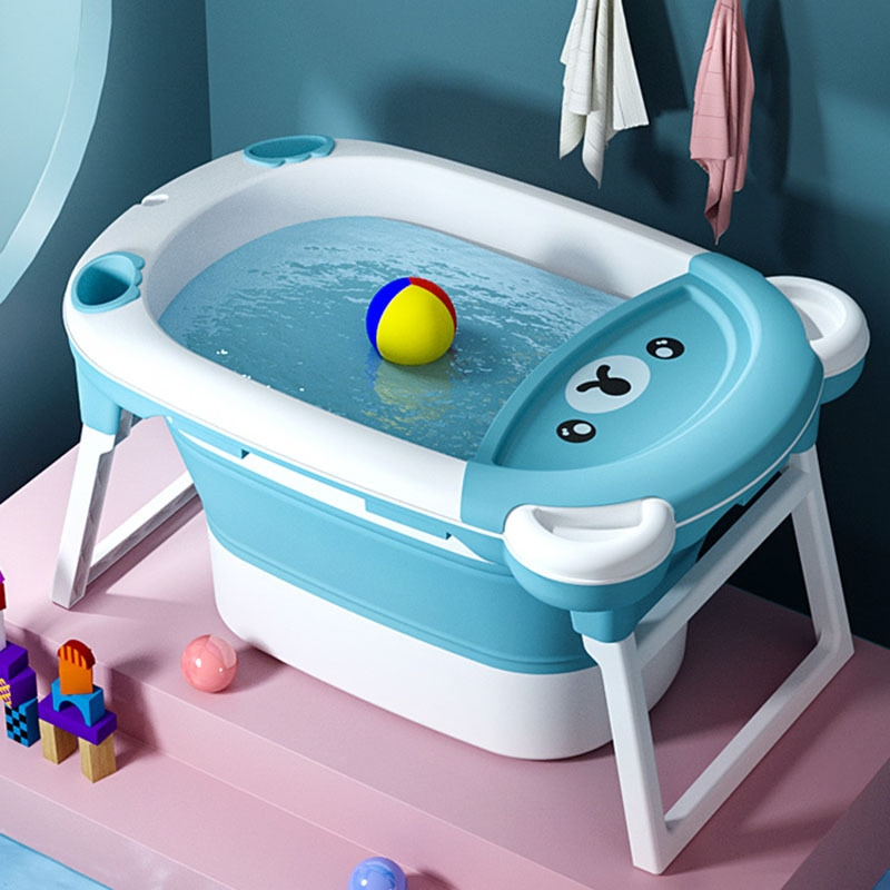 دلو استحمام للأطفال ، حوض استحمام قابل للطي ، حوض استحمام كبير للأطفال حديثي الولادة ، حوض استحمام منزلي للأطفال ، WY72905