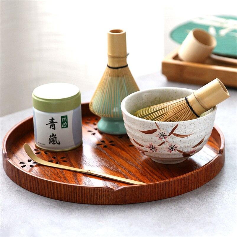 شاي ماتشا اليابانية مجموعة ماتشا السلطانية الخيزران خفقت علبة حاوية ماتشا