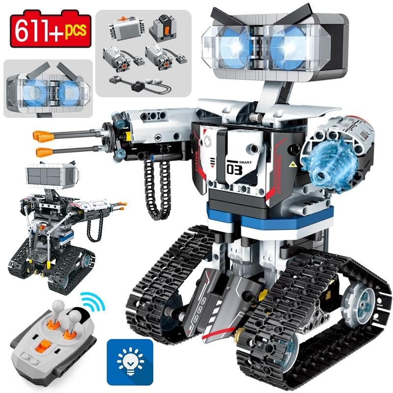 SEMBO مدينة التقنية RC روبوت اللبنات الخالق التحكم عن بعد الروبوت الذكية سلاح السيارة ألعاب مكعبات للأطفال الأولاد