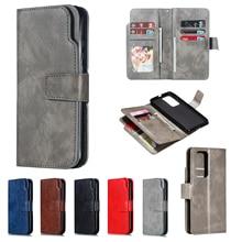Кожаный чехол книжка для Huawei P Smart 2020 P40 P30 Pro Y6P Y5P Mate 30 Lite, держатель для карт, бумажник, складная подставка, деловой чехол