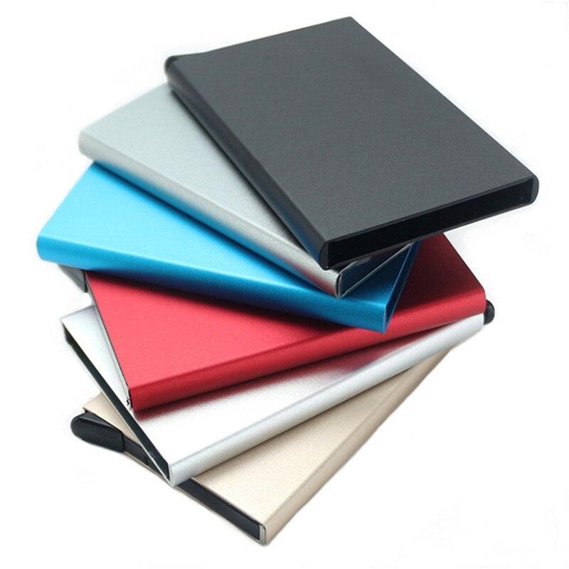 Чехол для кредитной карты, чехол для кредитной карты с RFID-защитой, алюминиевый чехол с защитой от кражи, металлический алюминиевый чехол для... чехол