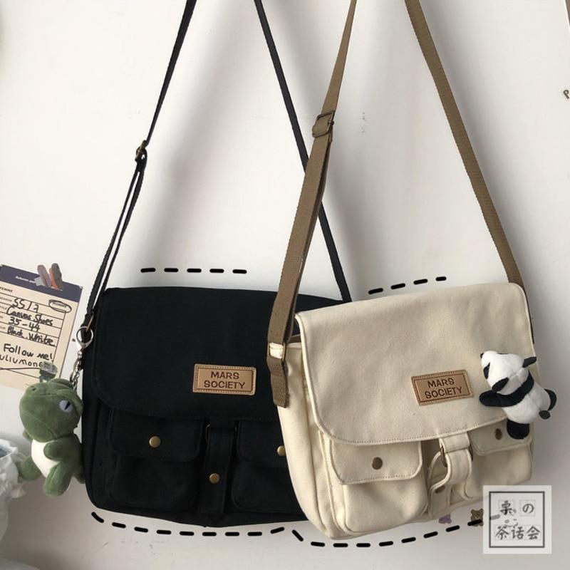 Women's Canvas Bag Japanese Department Harajuku Windsuit Messenger Bag Female Korean Students Shoulder Bags