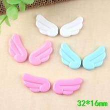 10pair/lot Kawaii Cute Angel Wings Flatback Resin Cabochon Scrapbooking Embellishment Phone deco DIY Decoration Craft