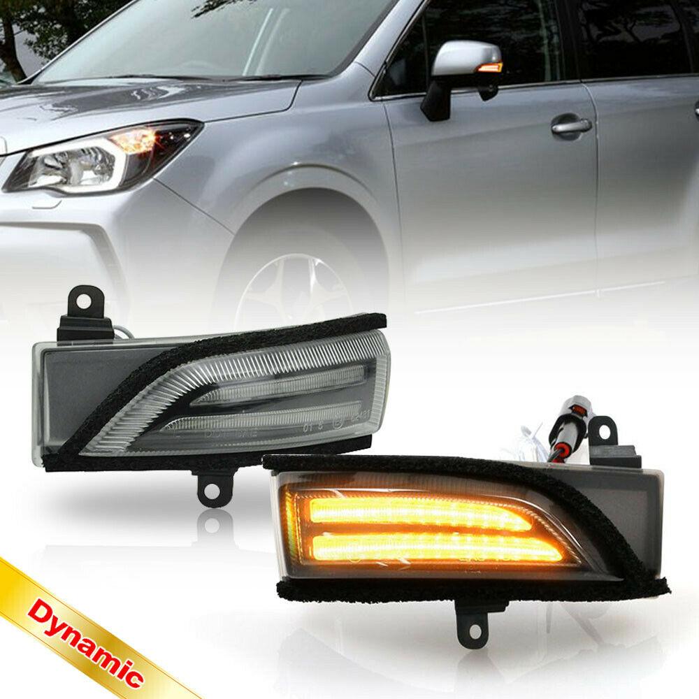For Subaru WRX STI Crosstrek Forester Impreza Legacy Outback Dynamic Blinker Side Mirror Indicator Light Turn Signal Lamp A/B 2P
