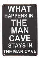 retro tin paintings new tin sign what happens in the n cave aluminum metal sign for wall decor