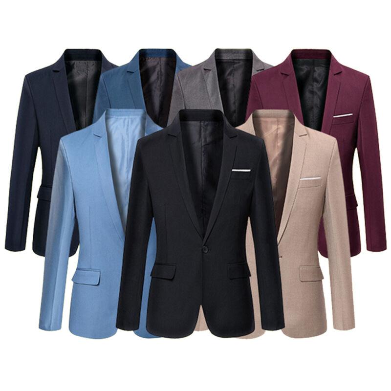 Goocheer Novo 4 Cores Plus Size Terno homens Blazers Formal dos homens Slim Fit One Button Suit Blazer Negócio blazers Homens Terno do escritório