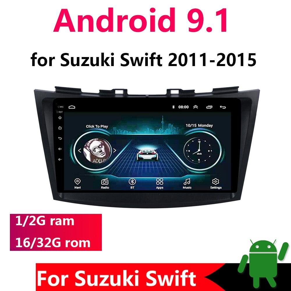 9 2 + 32G 2 din Android 9,1 reproductor de DVD para coche Suzuki Swift 2011-2015 2din Radio para coche estéreo de navegación GPS BT 4G