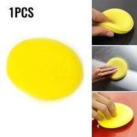 1pc sponges polish pads car vehicle wax polish foam sponge polishing pads soft wax yellow sponge pad buffer care wash towel