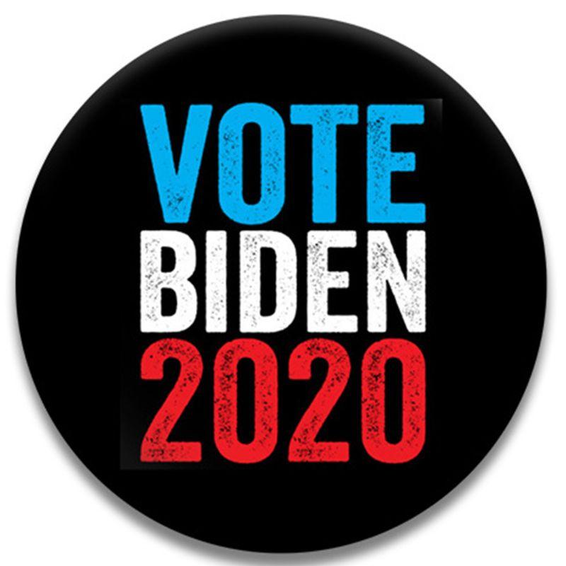 5 uds 2020 presidente americano placa redonda demócrata votación pines botón broche de cofre