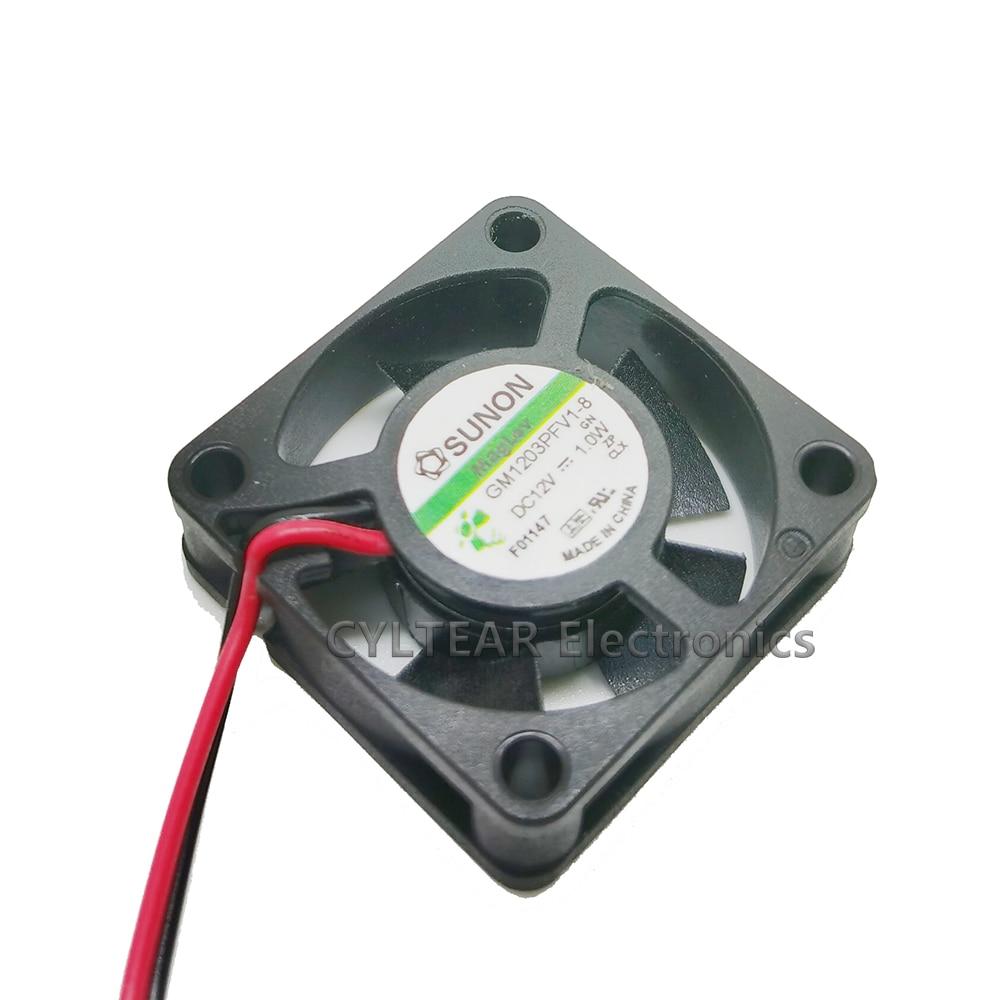 For SUNON 12V 1.0W GM1203PFV1-8 3cm 2 line 3010 magnetic suspension cooling fan enlarge