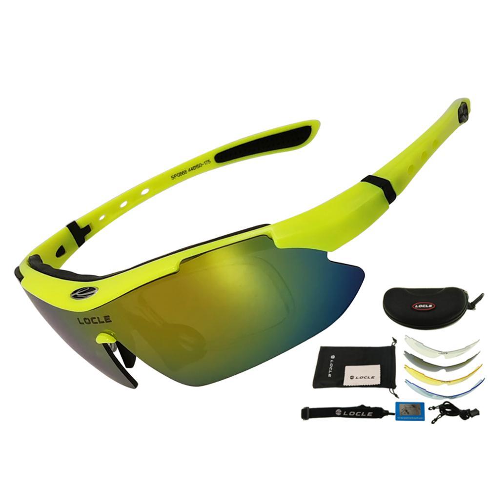 LOCLE Cycling Glasses UV400 Polarized Cycling Sunglasses Men Road MTB Bike Bicycle Glasses Fishing Riding Goggle Cycling Eyewear