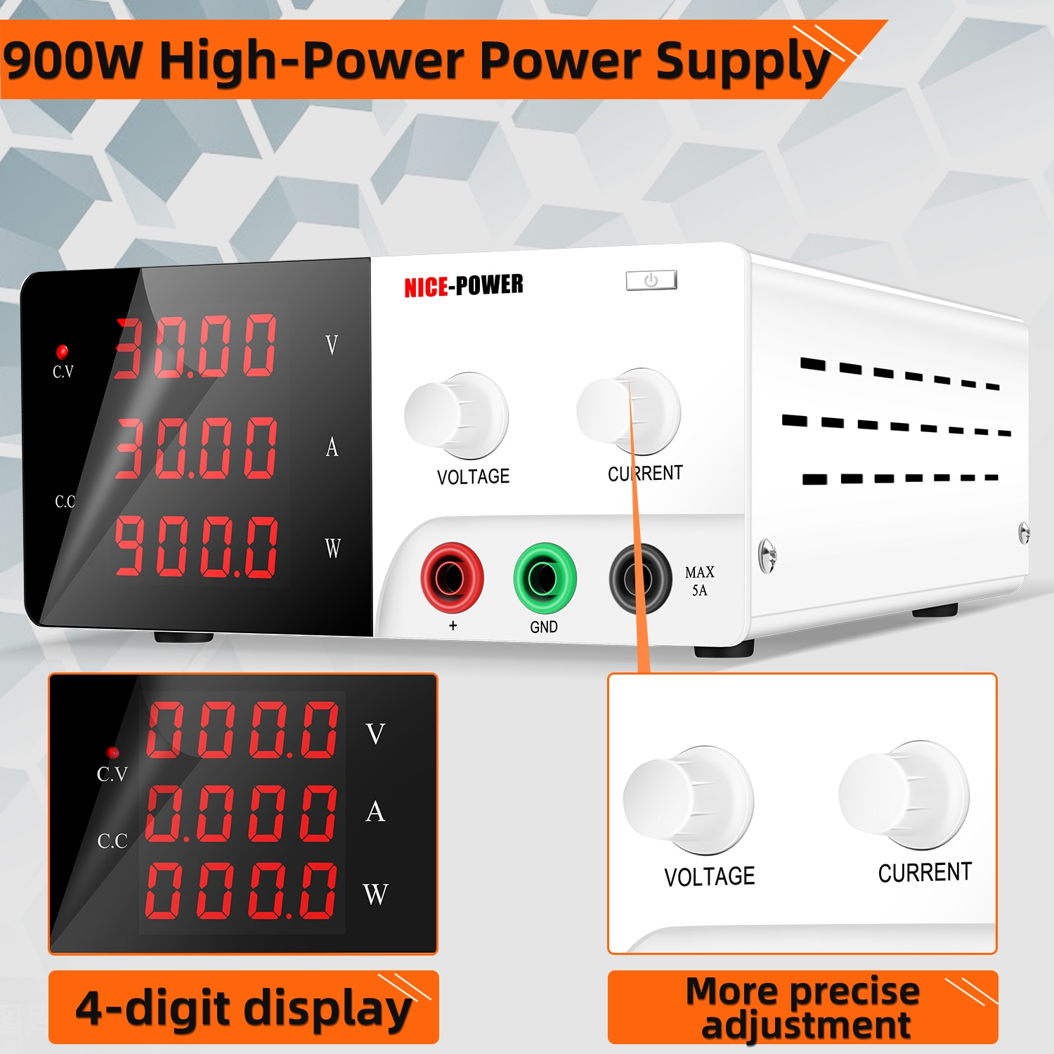 New Arrival Nice Power R-SPS3030 30V 30A Lab Bench Programmable Variable Adjustable Regulated  DC power Supply enlarge