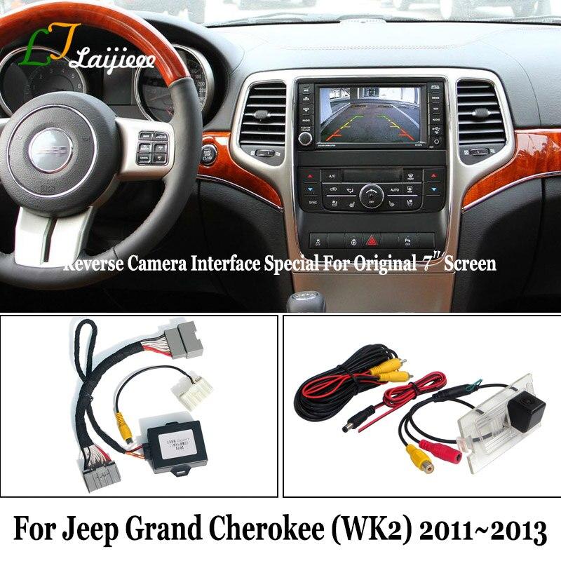 La cámara de reversa Kit para Jeep Grand Cherokee WK2 2011, 2012/2013/HD de visión trasera cámara de estacionamiento Compatible con OEM Pantalla de 7 pulgadas