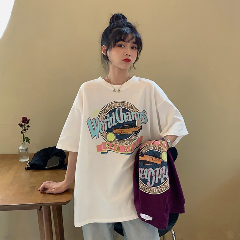 White T-shirt Women's Pure Cotton Spring and Summer 2021 New Korean Loose Net Short Sleeve Clothes