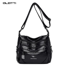 Luxury Soft Pu Leather Handbags Designer Hand Shoulder Bags for Women 2020 Large Capacity Casual Cro