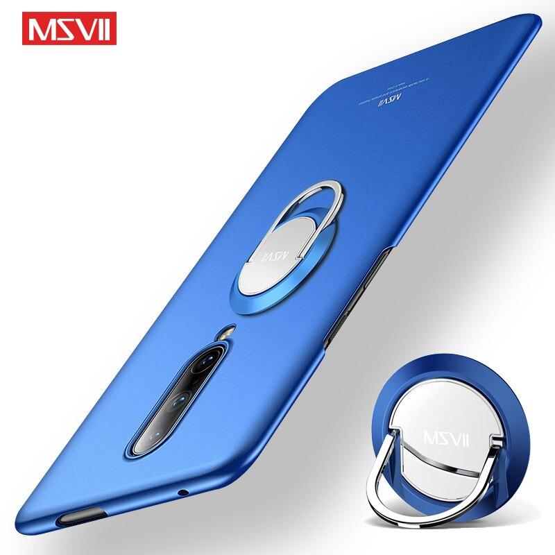 Uno más 8 Pro caso Msvii Slim de Coque uno más 7 T 7 T 6 caso OnePlus8 funda de soporte con anillo para OnePlus 8 7 7 T Pro 6 6 caso