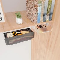 self stick pencil tray under desk drawer organizer table storage box self adhesive hidden organizer office stationery organizer