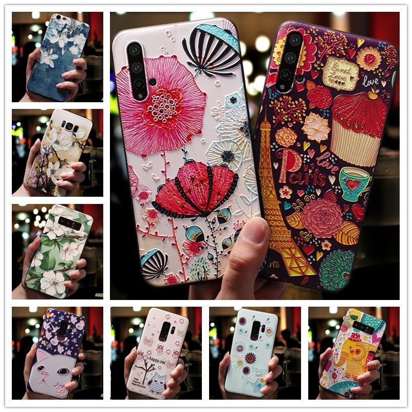 For OPPO Realme 6 Pro Case Realme6 3D Flower Emboss Silicone Phone Cases For OPPO Realme X2 Cover Soft Fundas Realme XT
