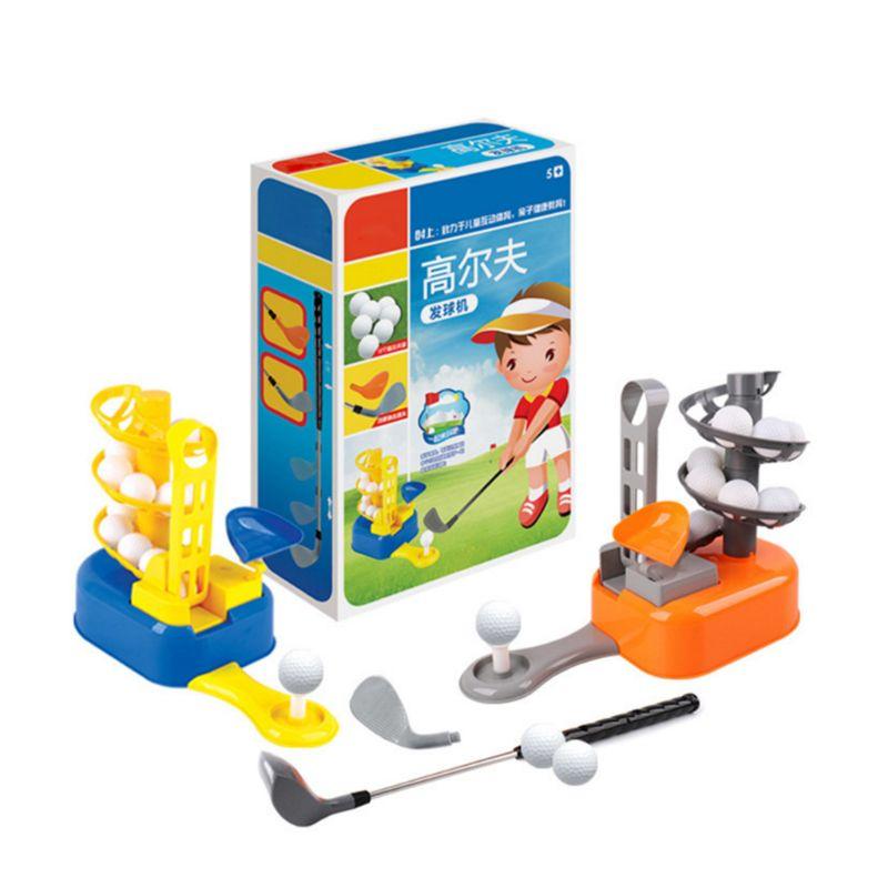 Juguetes Divertidos juego de máquina de pelota de Golf juguete herramientas de educación temprana ejercicio deportivo entrenamiento niños niñas regalos