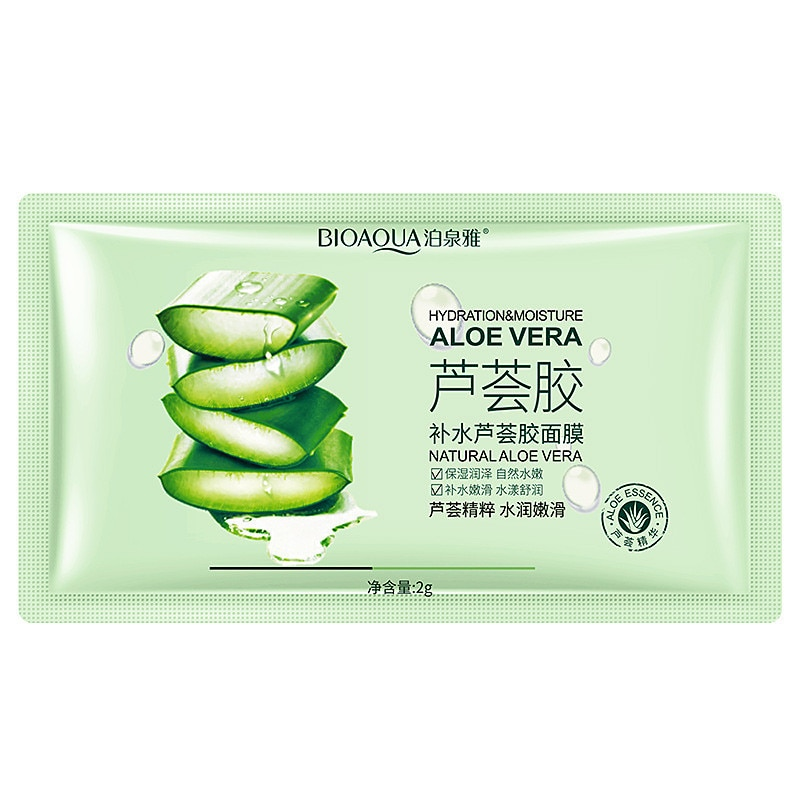 10Pcs/set Plant Aloe Extract Face Facial Mask Anti-Acne Moisturizing Extract Oil Control Hydrating F