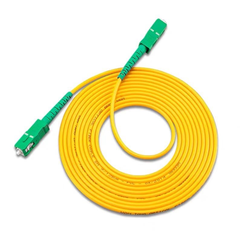 10PCS/lot  SC /APC  Simplex singlemode fiber optic patch cord Cable 2.0mm or 3.0mm LSZH Fiber Optic Patch Cord For CATV Network