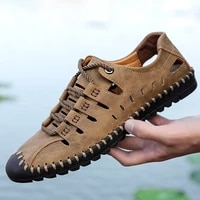 mens shoes mens sandals summer high quality leather casual shoes men beach sandals sandalias plus size 48