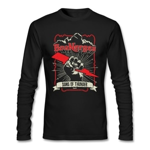 Casual Sons Of Thunder T Shirt Boyfriend Brand-clothing O-neck Cotton Long Sleeve Custom Boanerges T Shirts