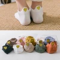 sale 5pairs new heart socks women cotton socks ankle short cute heart casual funny sock fashion socks
