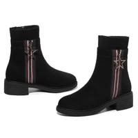 fashion winter boots women platform round toe folck women boots ankle boots for women short plush warm winter shoes women 3 32