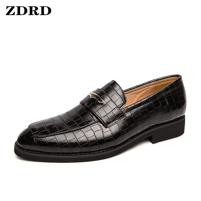 Luxury Men's Leather Shoes Crocodile Prints Tassels Loafers Brown Black Casual Man Shoes Office Wedding Dress Summer Men Shoes