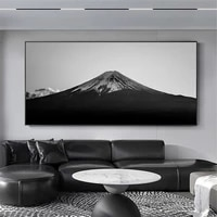 nordic mount fuji landscape wall art poster and print black white canvas painting modern pictures living room home decoration