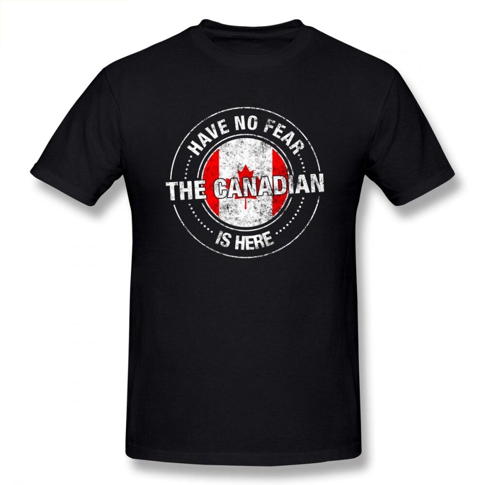 No tengo miedo de la canadiense es aquí T camisa personalizadas camisetas...
