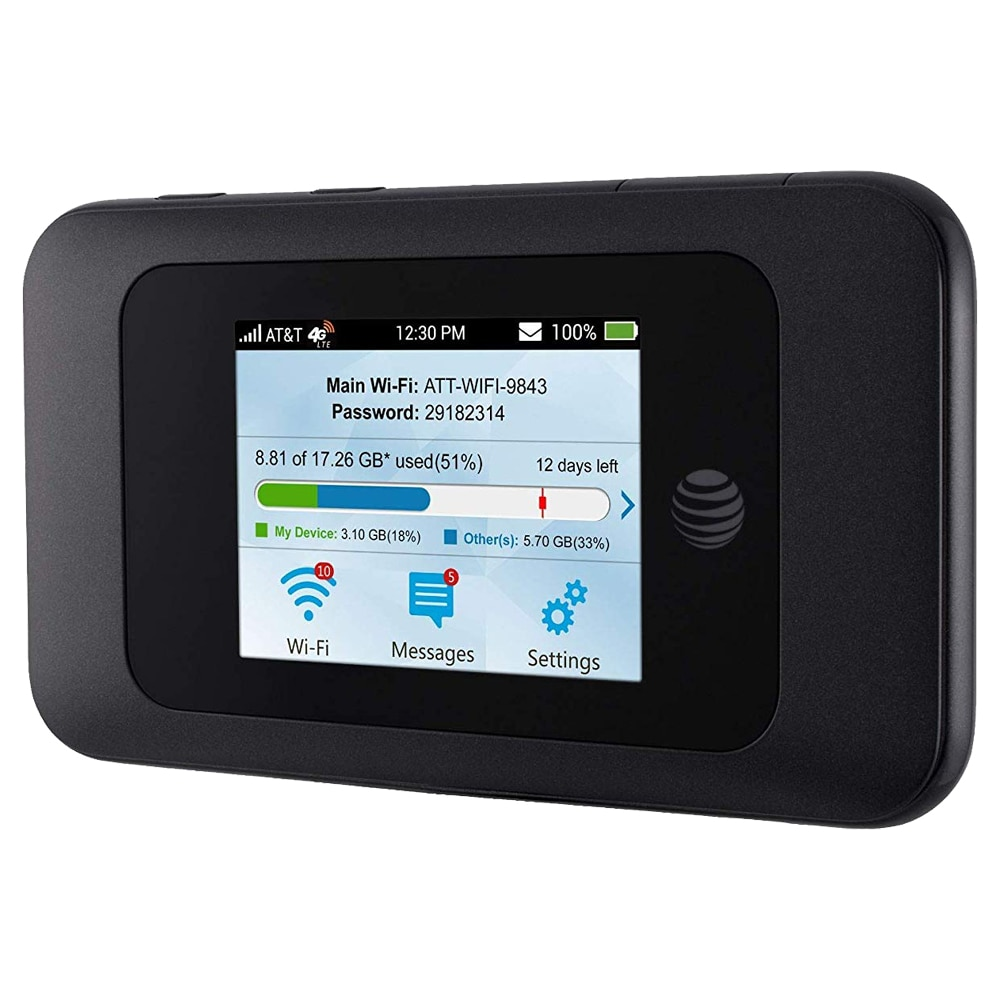 ZTE السرعة 2 at & t MF985 300Mbps Cat6 المحمولة 4G LTE مودم جهاز توجيه ببطاقة Sim فتحة