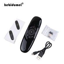 Kebidumei hava fare C120 için kablosuz oyun klavyesi Android uzaktan kumanda şarj edilebilir 2.4Ghz klavye için akıllı Tv Mini PC