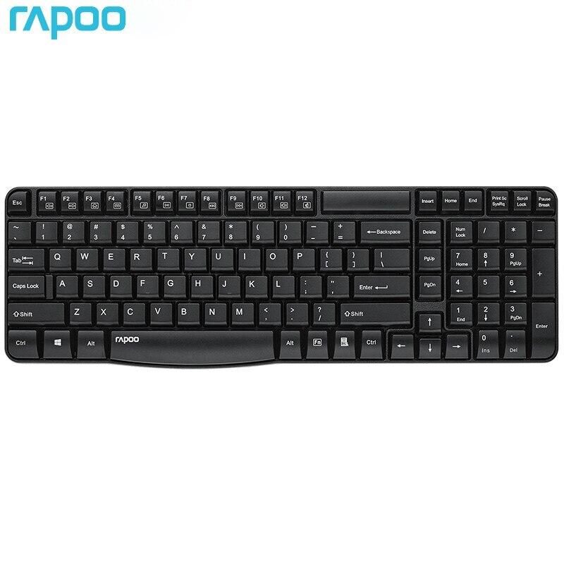 الأصلي Rapoo E1050 لوحة المفاتيح اللاسلكية USB 2.4G اللاسلكية سبلاش واقية للمنزل مكتب لأجهزة الكمبيوتر المكتبية أجهزة الكمبيوتر المحمولة الوسائط ال...