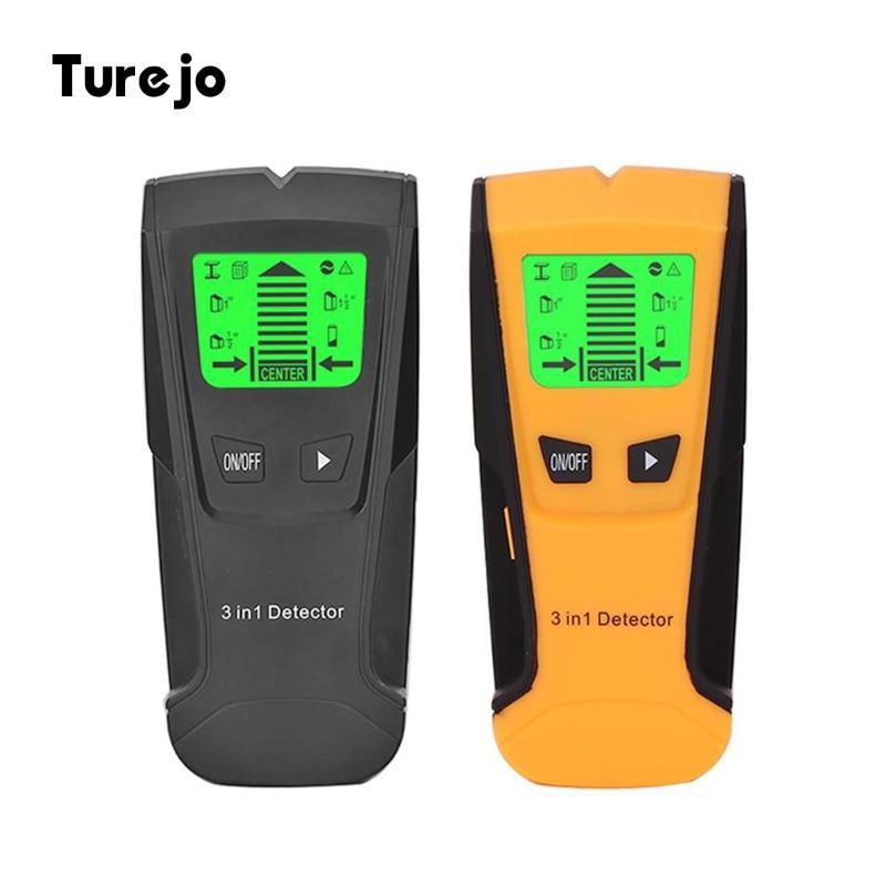 Detector de Metales 3 en 1, Detector de pernos de madera, Detector de detección de cable vivo de voltaje CA, Detector de pared, Detector de caja eléctrica
