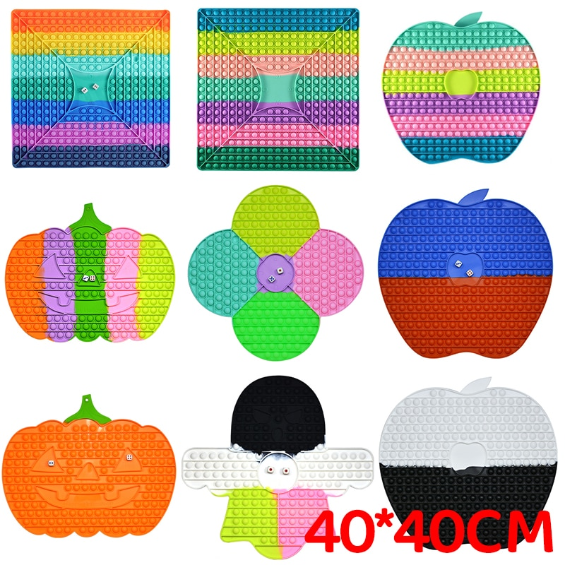 2021 New 40cm Super Big Size Push Bubble Toys Autism Needs Squishy Stress Reliever Toys Adult Kid Fidget Family Table Board Game