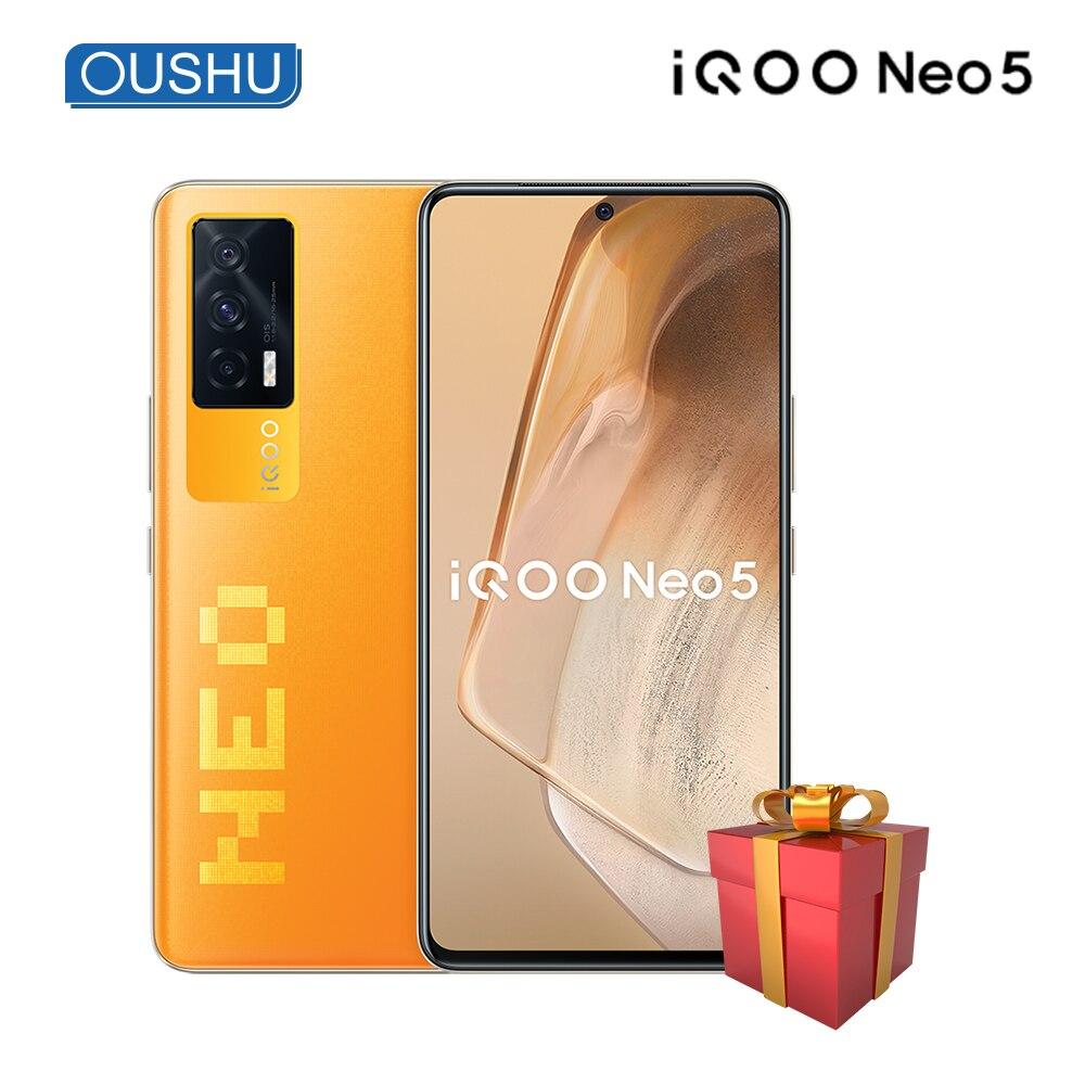 Оригинальный мобильный телефон vivo IQOO Neo5, процессор Qualcomm Snapdragon 870, 120 Гц, экран OLED, аккумулятор 4400 мАч, 66 Вт, Зарядка телефона