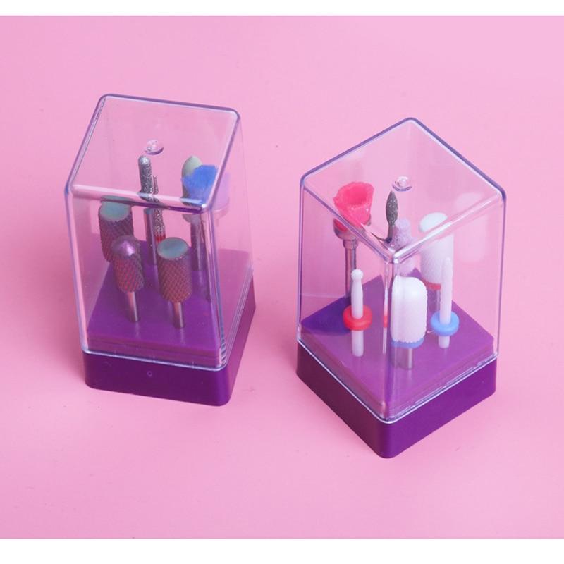Juego de brocas para uñas de cerámica con caja de 7 Uds., juego de brocas eléctricas, herramientas de arte, accesorios de aleación de carburo de tungsteno, juego de multifresado de 7 Uds.